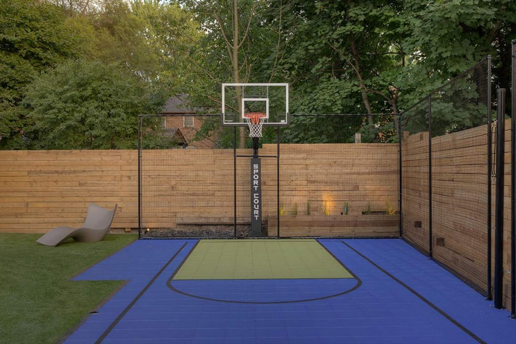 Abu Residence Landscaping Design Project; Featuring Sports Court