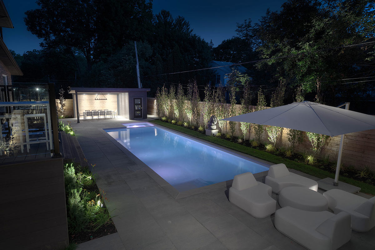 Complete Concrete Pool Installation Project & Landscape Design