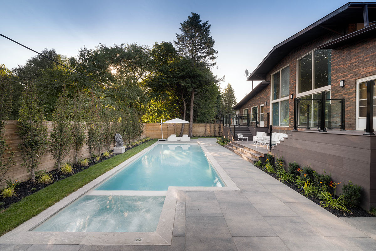 Landscape View of Complete Backyard Landscape Design Project by Toronot Landscaping Company