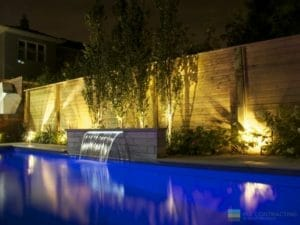 M.E. Contracting Landscaping, fiberglass pool, and cedar fence woodworking