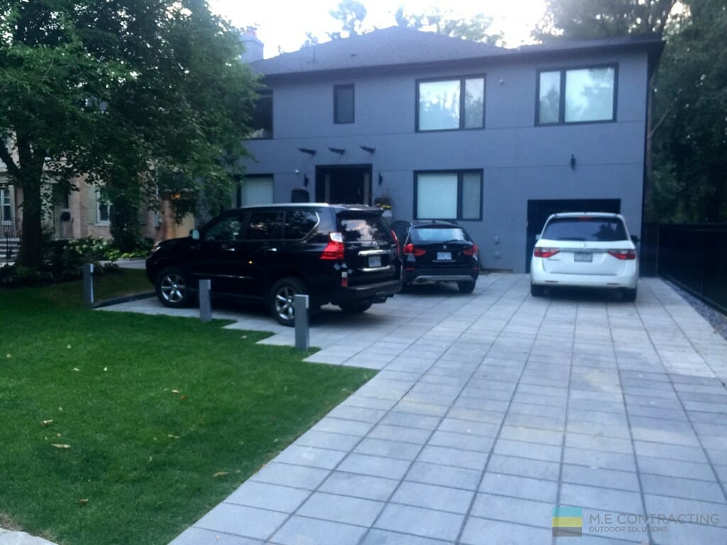 Interlocking Driveway and soft landscaping