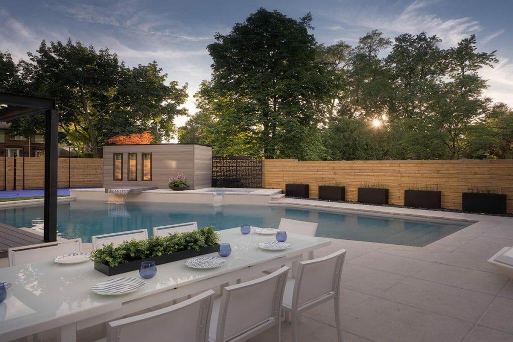 Large Landscape Design & Concrete Pool Construction Project - Abu Residence