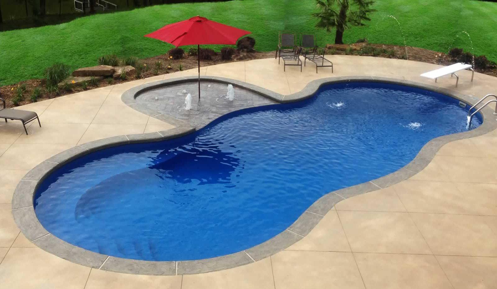 Mediterranean Fibreglass Pool By Toronto Pool Builder M E Contracting