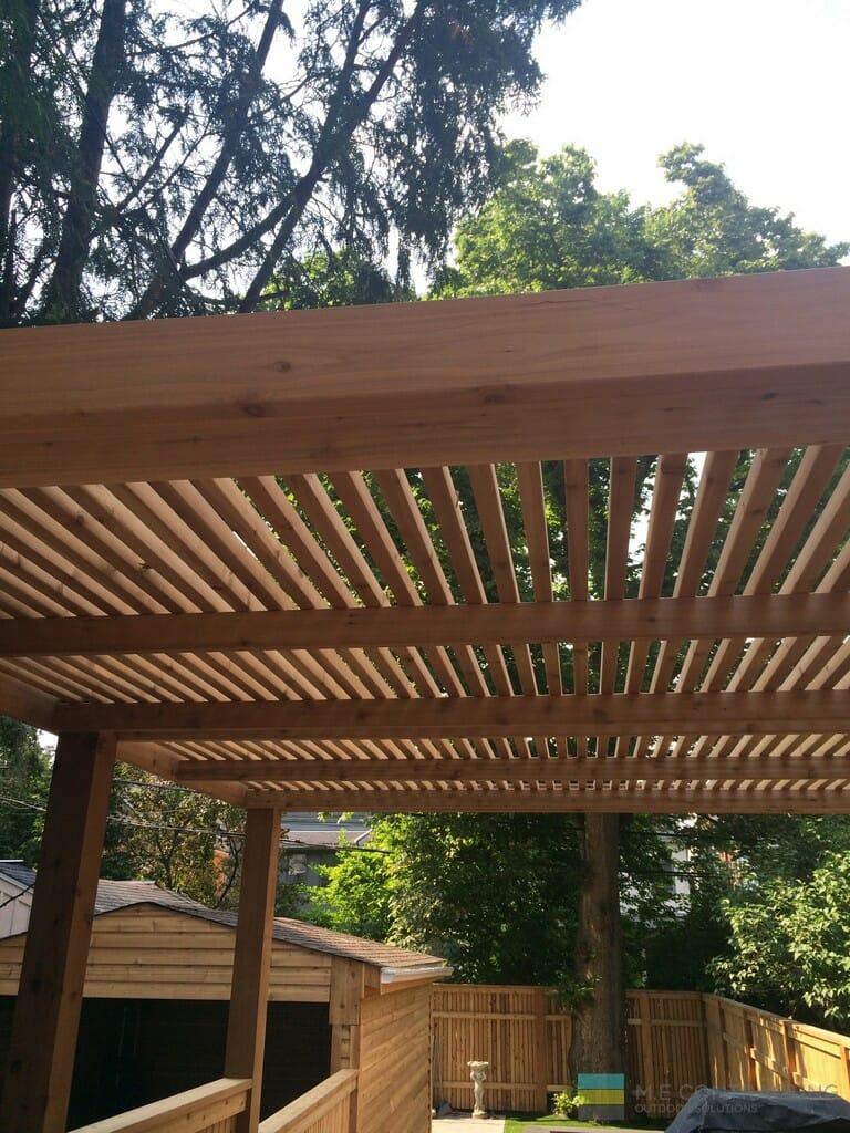 Woodworking cedar pergola