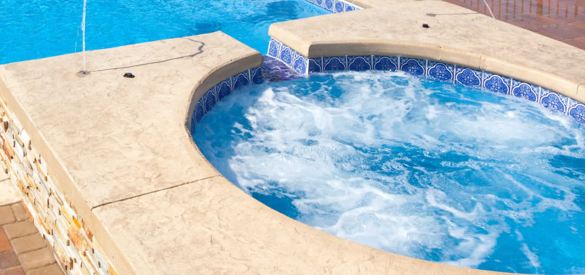 Fibreglass pool coping by Leisure Pools