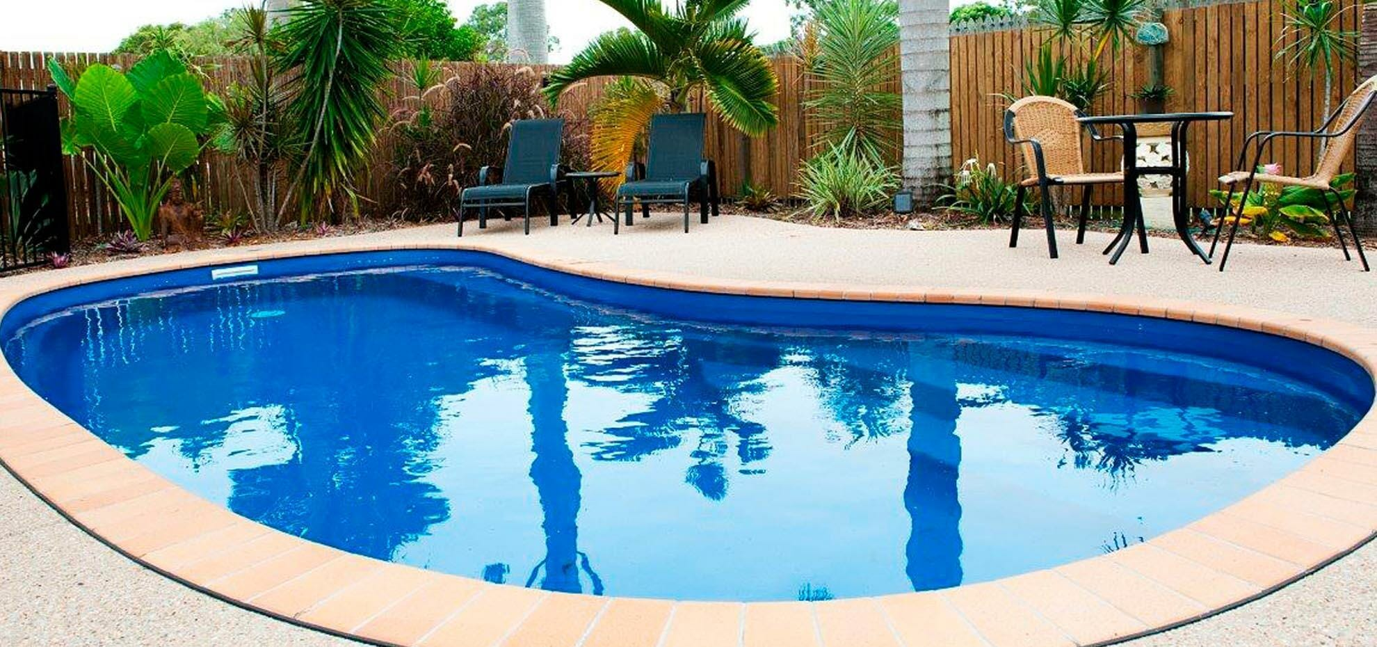 Tuscany Fiberglass pool with coping