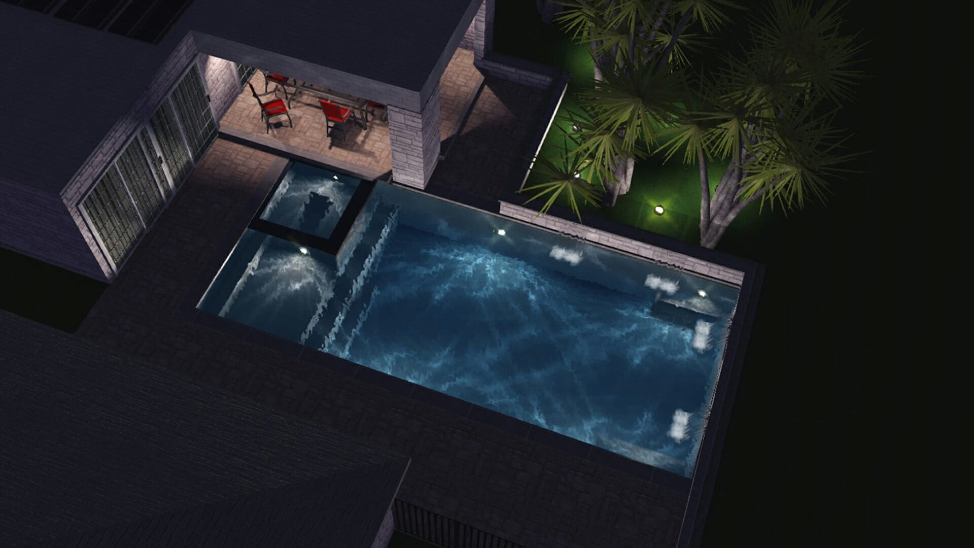 3D artist Rendering of an Ultimate Pool by Leisure Pools