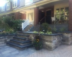 Front Porch Deck and Landscaping with Railings