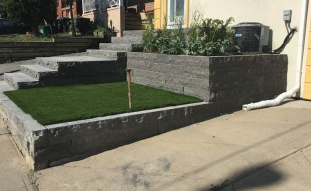 Front Yard Landscaping and Steps
