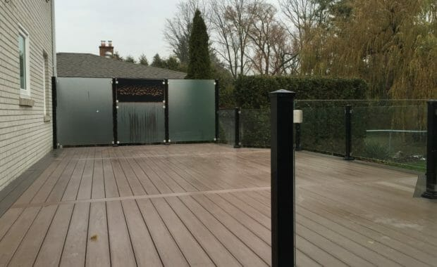 PVC Deck with Glass Railings