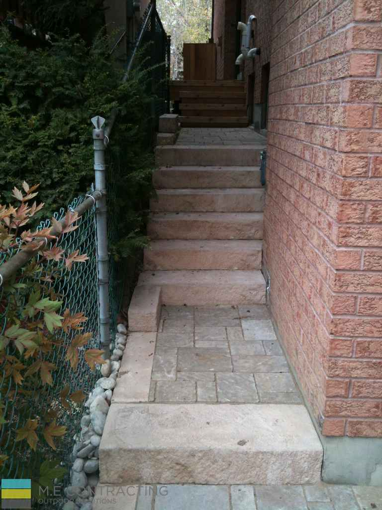 Interlocking Driveway With 2nd Level Deck And Flagstone
