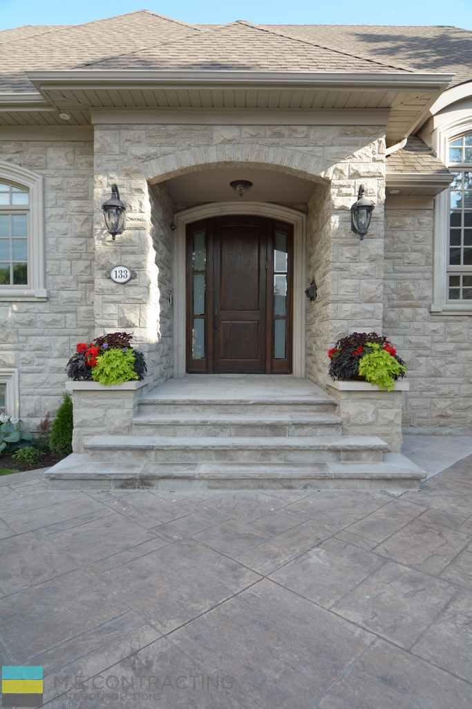Interlocking, driveway, stone steps