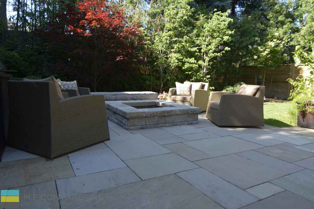 Fire Pit Backyard Toronto : stone, stone fire pit, armor stone, outdoor furniture  Toronto