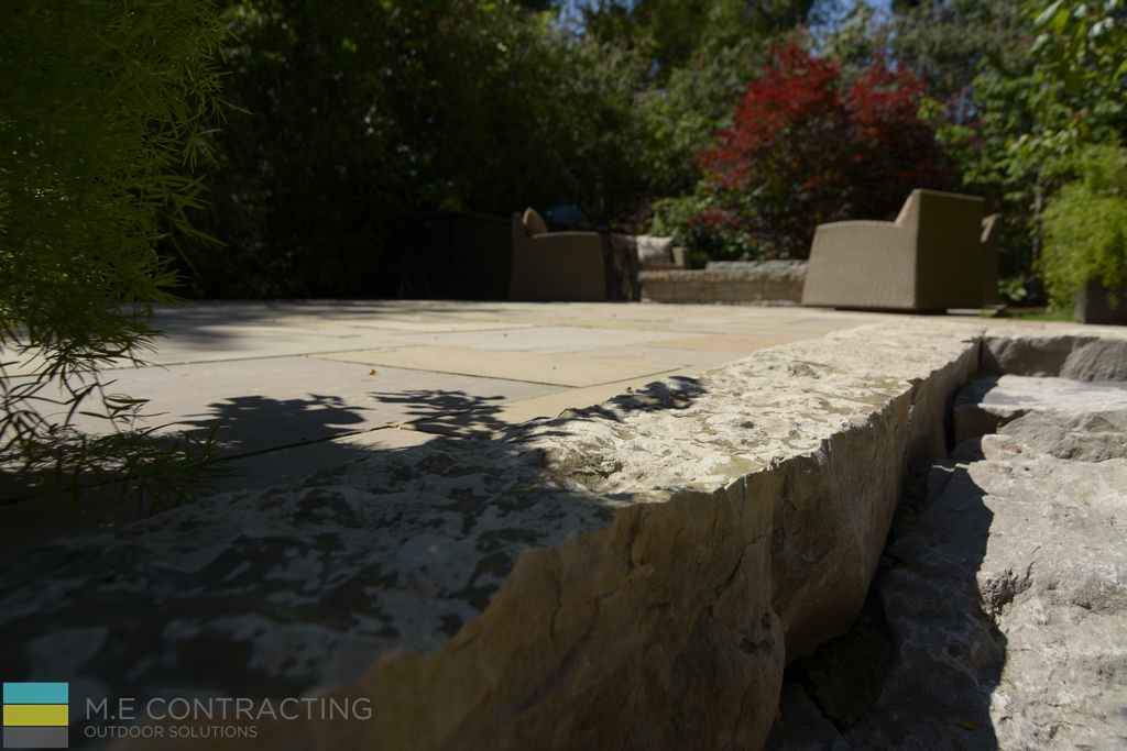 Armor stone, stone fire pit, interlocking patio, outdoor furniture