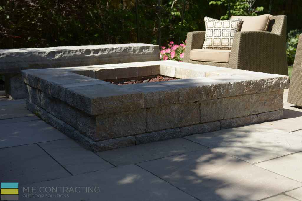 Interlocking stone, stone fire pit, armor stone, outdoor furniture