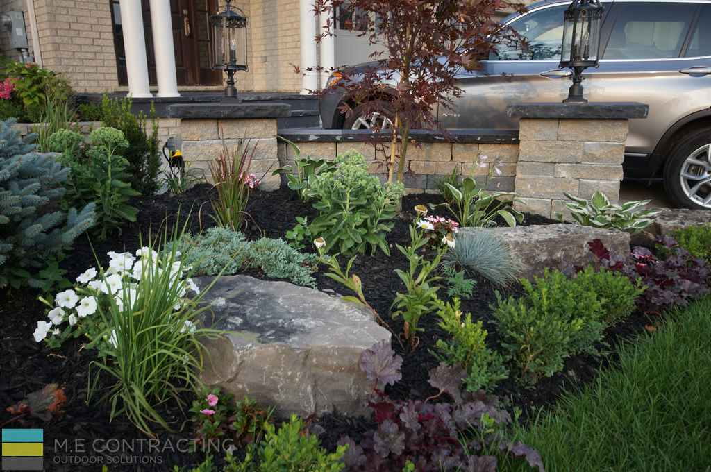 Landscaping interlocking steps armour stones coping for Garden design ideas toronto