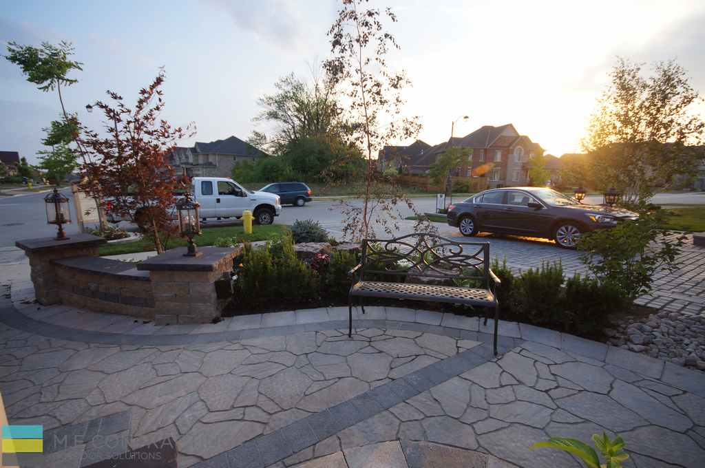 Landscaping, interlocking, steps, armour stones, coping flagstone, stone porch, retaining wall