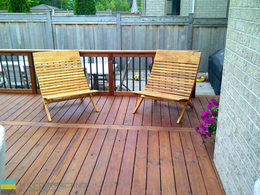 Ipe deck with aluminum railings with ipe frame and posts for Ipe decking