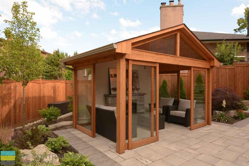 Cedar shed, interlocking, armor stone, landscaping, cedar fence