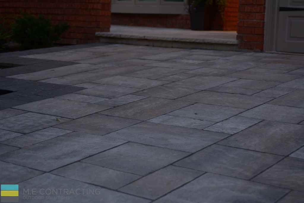 Interlocking, stone step, driveway