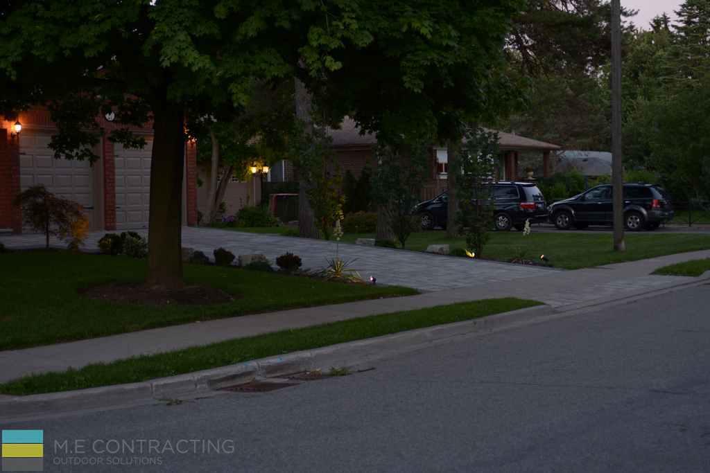 Interlocking driveway, armor stone, landscaping, garden