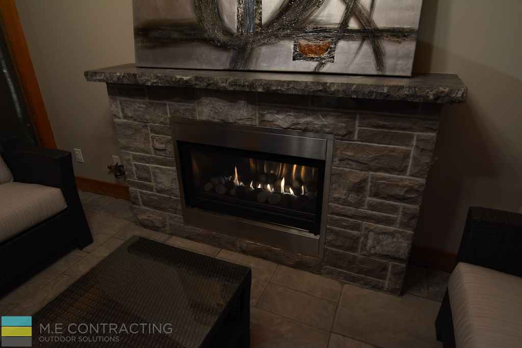 Stone fire place, interlocking, coping flagstone