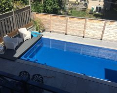 Pool Construction with Retractable Cover