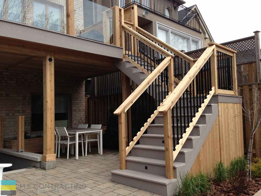 Basement Walkout Interlocking Pvc Deck Tempered Glass